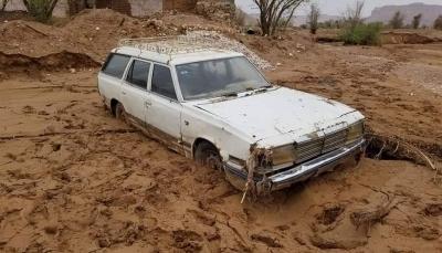 تضرر منازل ونزوح أهلها جراء الأمطار والسيول في وادي حضرموت