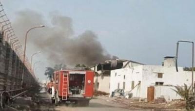 مليشيا الحوثي تقصف مجمع تجاري في مدينة الحديدة