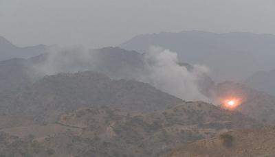 """صعدة: تفجير مخزن أسلحة لميليشيات الحوثي بمنطقة """"آل ثابت"""""""
