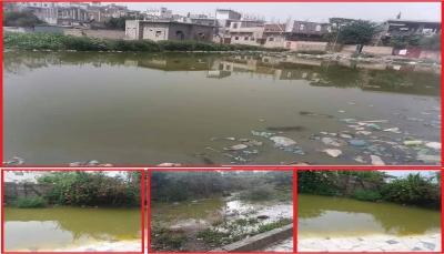 مياه الصرف الصحي تهدّد سكان مدينة القاعدة  في إب