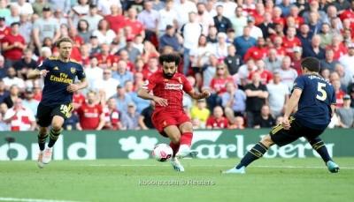 """""""صلاح"""" يقود ليفربول إلى الإنفراد بصدارة الدوري الانجليزي"""
