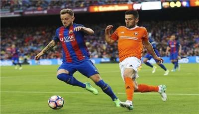 برشلونة يقع في فخ التعادل أمام أوساسونا