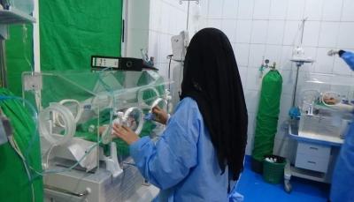 """بسبب نفاذ مادة الأكسجين.. مستشفى حكومي في """"تعز"""" يحذر من وفاة عشرات الأطفال"""