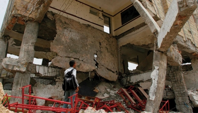 """تقرير حقوقي: مقتل نحو 1400 مدني في القصف الحوثي على """"تعز"""""""