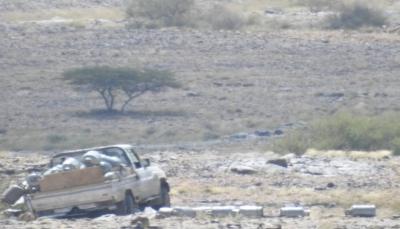 """البيضاء: انفجار لغم أرضي زرعه الحوثيون بسيارة محمّلة باسطوانات غاز في """"قانية"""""""
