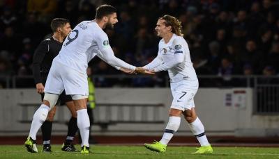 فرنسا تحقق فوز صعب على أيسلندا