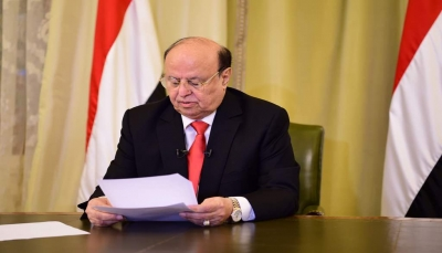 """الرئيس هادي: لن نتسامح تجاه مشاريع تقويض الدولة و """"السيادة"""" لا تقبل المساومة"""