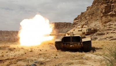"""مقتل عشرات الحوثيين في هجوم للجيش في """"البقع"""" وغارات للتحالف في """"حرض"""""""