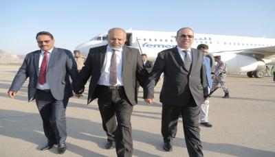 وصول وزيري الداخلية والنقل إلى مدينة سيئون