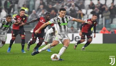 رونالدو يقود يوفنتوس لفوز قاتل على جنوى ويستعيد صدارة الدوري الإيطالي