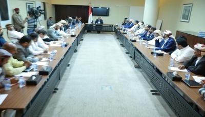 خلال لقائه قيادات إقليم سبأ.. نائب الرئيس يؤكد على المضي قدما في مشروع الأقاليم الستة