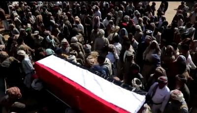 مأرب: تشييع جثمان ضباط وأفراد الجيش الذين قضوا جراء استهداف صاروخي