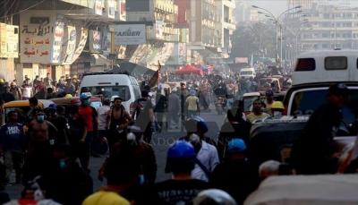 العراق: الأمن في بغداد يقتل 6 محتجين وسقوط عشرات المصابين