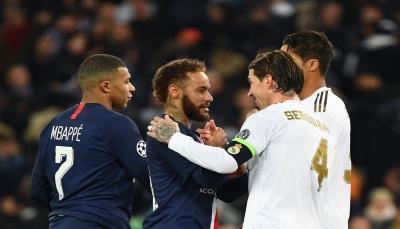 باريس سان جيرمان يحقق تعادل مثير مع ريال مدريد في دقيقتين