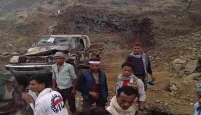 """وفاة قيادي في كتائب """"أبو العباس"""" وثلاثة من مرافقيه في حادث مروري جنوب تعز"""