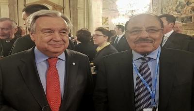 """نائب الرئيس يلتقي """"غوتيريش"""" على هامش قمة المناخ في مدريد"""