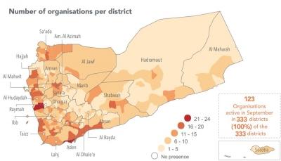 الامم المتحدة: المساعدات الانسانية وصلت كل مديريات اليمن في سبتمبر الماضي