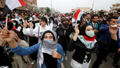 العراق: طعن 11 متظاهراً في ساحة التحرير وسط بغداد الحشد الشعبي يحشد أنصاره