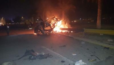 """شاهد فيديوهات للحظة اغتيال قاسم سليماني بصواريخ أمريكية """"دقيقة"""" في بغداد"""