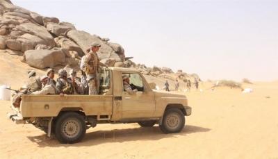قوات الجيش تتصدى لهجوم حوثي شمال الجوف