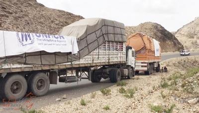 فتح: مليشيات الحوثي احتجزت ونهبت 440 شاحنة اغاثية خلال عام