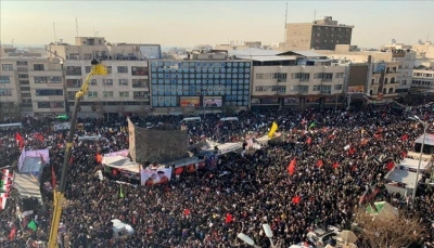 مقتل وإصابة أكثر من 80 إيراني في حادثة تدافع أثناء تشييع سليماني