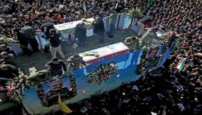56 قتيلاً و 213  مصاباً في حادثة التدافع بجنازة قاسم سليماني في إيران