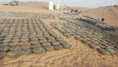 """""""مسام"""" يعلن انتزاع  أكثر من 1200 لغماً في الأسبوع الثالث من شهر يناير الجاري"""