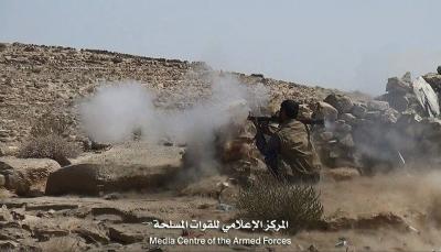 """صنعاء: الجيش يدمر آليات قتالية للميليشيات شمال """"نهم"""" والمعارك مستمرة"""