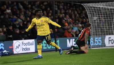آرسنال يهزم بورنموث ويلحق بالمتأهلين في كأس إنجلترا