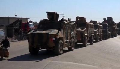 النظام السوري يسطر على قرى بريفي حلب وإدلب وتركيا تدفع بمئات المركبات العسكرية