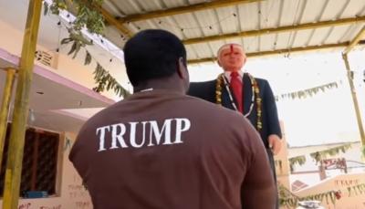 شاهد - هندي يعبد دونالد ترامب ويشيد تمثالا له