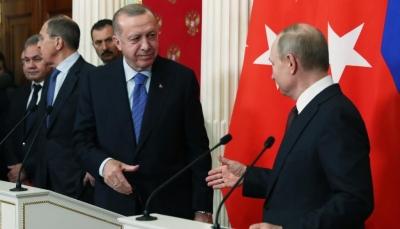 """أردوغان وبوتين يتفقان على وقف إطلاق النار في مدينة """"إدلب"""" السورية"""