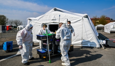 أكثر من 600 وفاة بكورونا في ايطاليا في 24 ساعة والحصيلة تتجاوز أربعة الاف