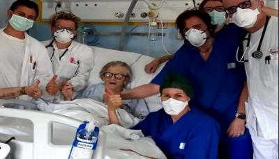 """سيدة إيطالية بعمر 95 عاما تتغلب على """"كورونا"""""""