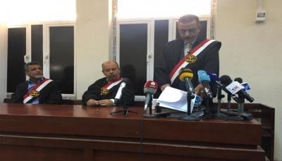 عدن: المحكمة الجزائية تعقد أولى جلسات محاكمة 32 من قادة الانقلاب على الشرعية