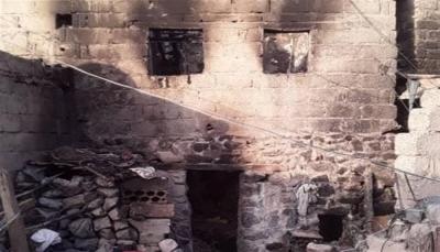 """مركز حقوقي يحمّل الحوثيين مسؤولية جريمة إبادة أسرة في """"هجدة"""" غرب تعز"""