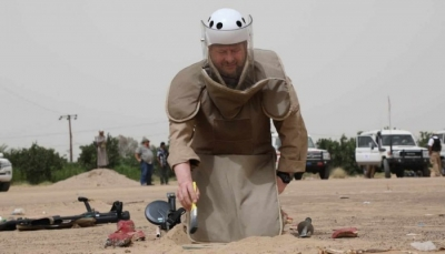 الجوف: قوات الجيش تلقي القبض على فريق حوثي لزراعة الألغام
