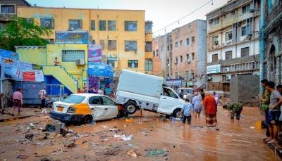 """بعد المنخفض الجوي.. الحكومة تعلن العاصمة المؤقتة عدن """"مدينة منكوبة"""""""