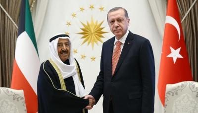 في اتصال هاتفي.. أردوغان يبحث مع أمير الكويت التطورات الإقليمية