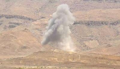 مقاتلات التحالف تدمّر مخزن أسلحة وآليات لمليشيات الحوثي شرقي صنعاء