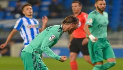 ريال مدريد  ينجو من فخ سوسييداد وينتزع صدارة الليغا