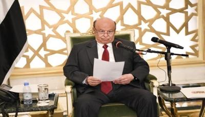 """مصادر: ضغوط سعودية على """"هادي"""" للقبول بصيغة معدلة من اتفاق الرياض"""