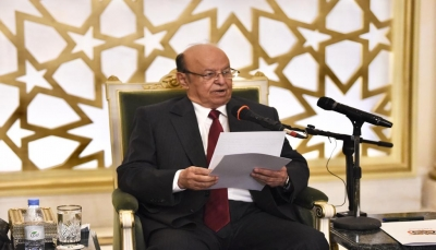 دعا الانتقالي لإنهاء التمرد.. الرئيس هادي: الاحتكام للسلاح والقوة لن يحقق لأصحابه هدفاً