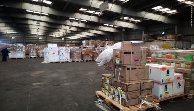 """""""أطباء بلا حدود"""" تعلن وصول 43 طن من الإمدادات الطبية إلى صنعاء لمواجهة كورونا"""