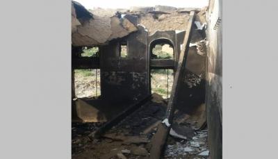 """صنعاء: ميلشيات الحوثي تهدم  وتحرق منزل مواطن في مديرية """"الحيمة"""""""
