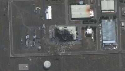 """أجزاء اختفت منها بالكامل.. صور تظهر حجم الدمار بمنشأة """"نطنز"""" النووية الإيرانية"""