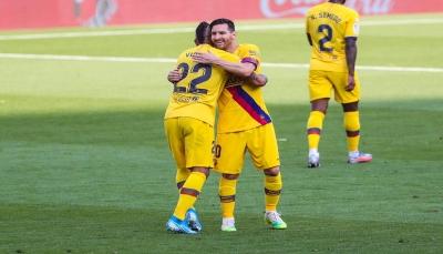 برشلونة يعبر من فخ بلد الوليد بصعوبة ويحافظ على آماله
