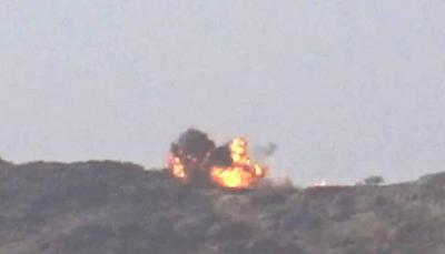 """صنعاء: قتلى وجرحى حوثيين وتدمير آليات عسكرية ومخزن أسلحة في""""نهم"""""""