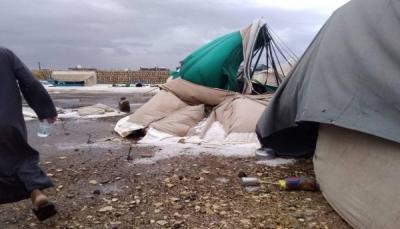 تقرير حكومي: وفاة 3 نازحين وتضرر أكثر من5 آلاف أسرة نازحة جراء السيول في مأرب